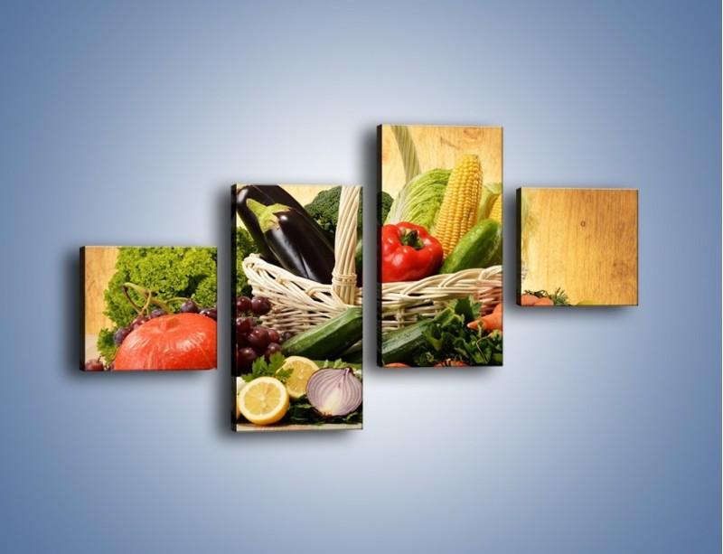 Obraz na płótnie – Kosz pełen warzywnych witamin – czteroczęściowy JN081W3