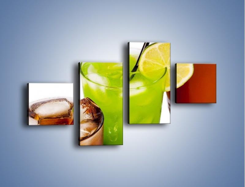 Obraz na płótnie – Kwaśno-słodkie drinki – czteroczęściowy JN093W3