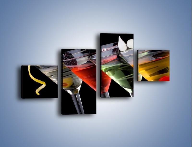 Obraz na płótnie – Alkoholowa zabawa do rana – czteroczęściowy JN100W3
