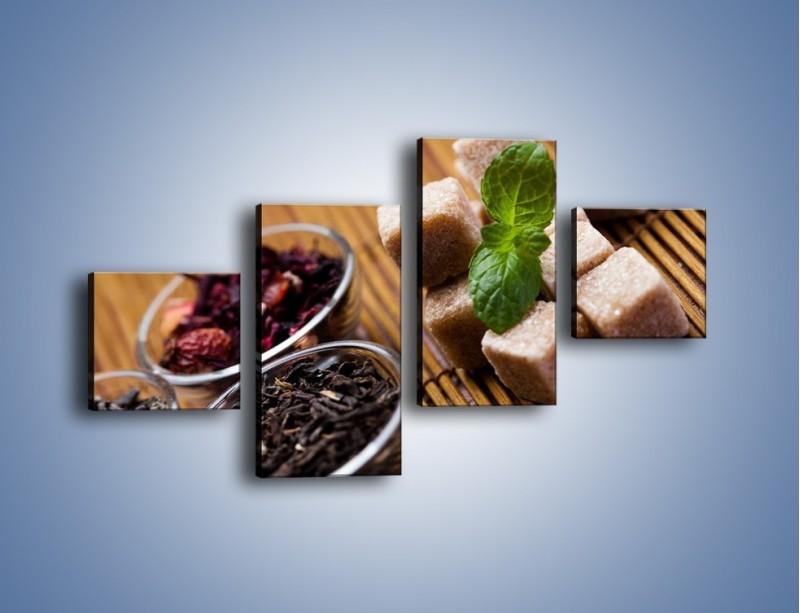 Obraz na płótnie – Ususzone bogactwa natury do herbaty – czteroczęściowy JN105W3