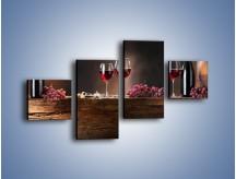 Obraz na płótnie – Beczuszki czerwonego wina – czteroczęściowy JN142W3
