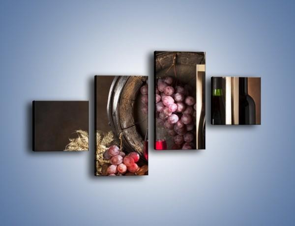 Obraz na płótnie – Elegancki prezent dla winnego smakosza – czteroczęściowy JN143W3