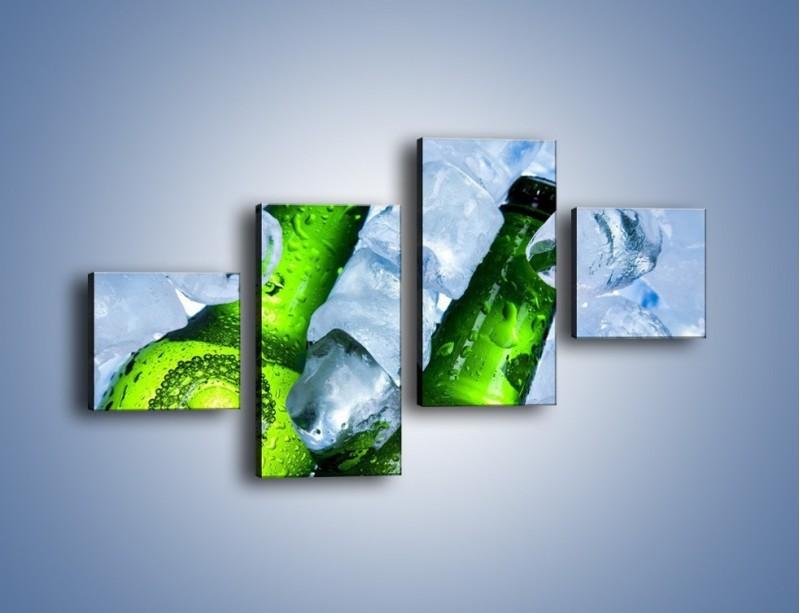Obraz na płótnie – Czas na zimne piwko – czteroczęściowy JN148W3