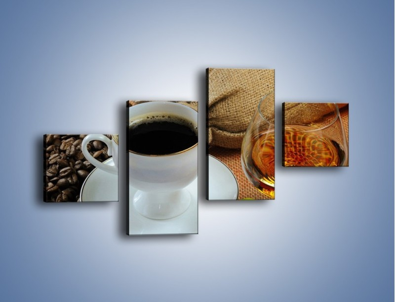 Obraz na płótnie – Wieczorowa kawa z prądem – czteroczęściowy JN166W3