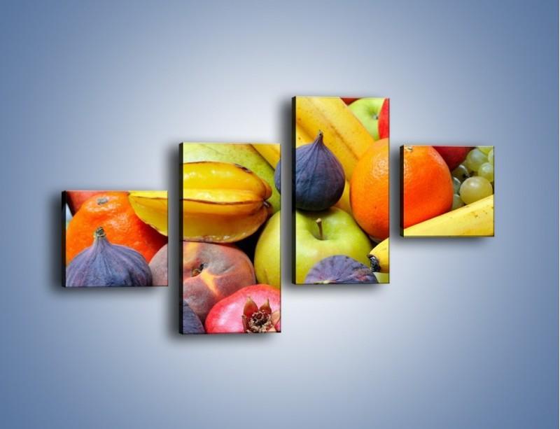Obraz na płótnie – Owocowe kolorowe witaminki – czteroczęściowy JN173W3