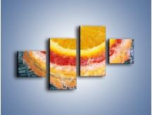 Obraz na płótnie – Cytrusowe trio – czteroczęściowy JN177W3