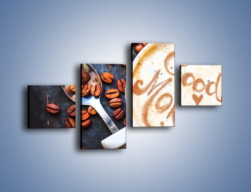 Obraz na płótnie – Kawa na miły początek dnia – czteroczęściowy JN180W3