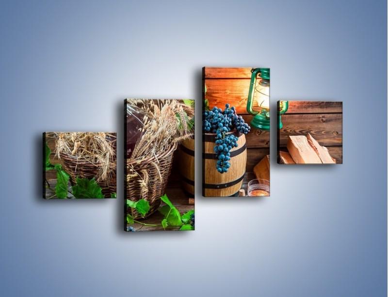 Obraz na płótnie – Wino według własnego przepisu – czteroczęściowy JN202W3