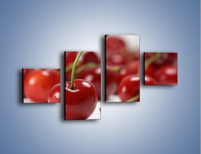 Obraz na płótnie – Czereśnia rządzi w kuchni – czteroczęściowy JN223W3