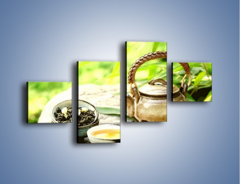 Obraz na płótnie – Herbata na świeżym powietrzu – czteroczęściowy JN249W3