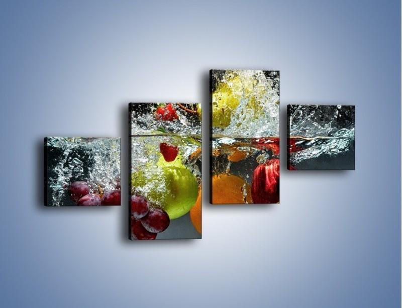Obraz na płótnie – Głębokie owocowe zanurzenie – czteroczęściowy JN253W3