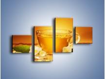 Obraz na płótnie – Delikatny smak herbaty – czteroczęściowy JN261W3