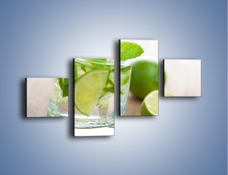 Obraz na płótnie – Limonkowy napój – czteroczęściowy JN262W3