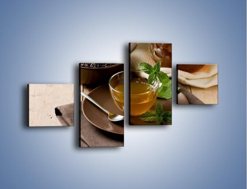Obraz na płótnie – Filiżanka herbaty na poprawę humoru – czteroczęściowy JN264W3