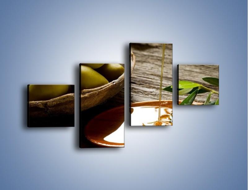 Obraz na płótnie – Bogactwa wydobyte z oliwek – czteroczęściowy JN270W3