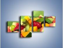 Obraz na płótnie – Arbuzowa misa z owocami – czteroczęściowy JN274W3
