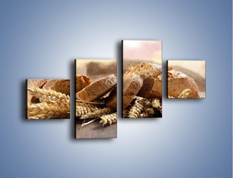 Obraz na płótnie – Świeży pszenny chleb – czteroczęściowy JN287W3