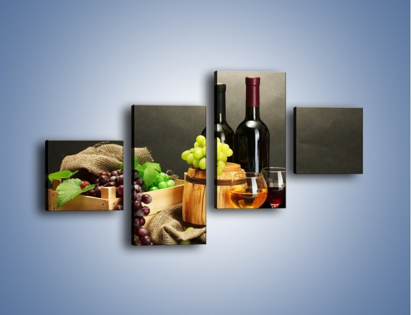 Obraz na płótnie – Wytrawne smaki wina – czteroczęściowy JN289W3