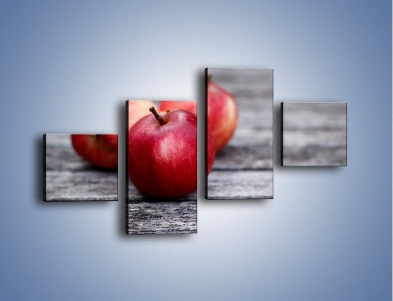 Obraz na płótnie – Jabłkowe zdrowie – czteroczęściowy JN296W3