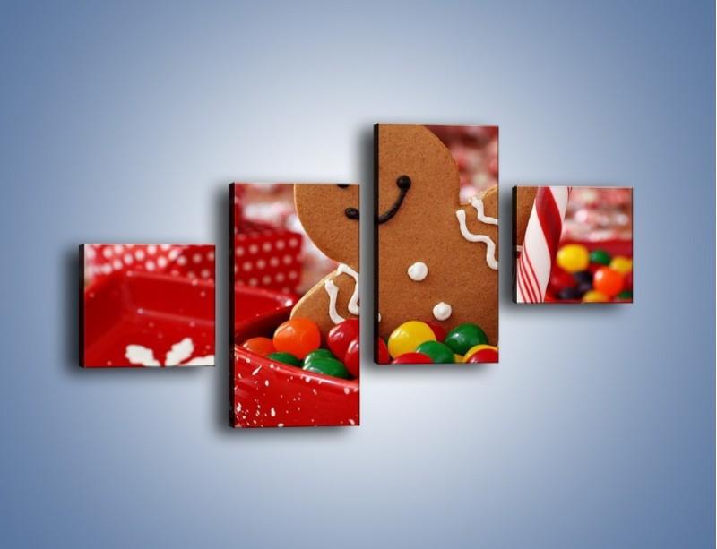 Obraz na płótnie – Ciasteczkowy ulubieniec dzieci – czteroczęściowy JN308W3
