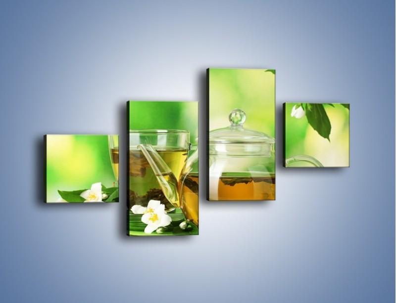 Obraz na płótnie – Herbaciane ukojenie – czteroczęściowy JN316W3