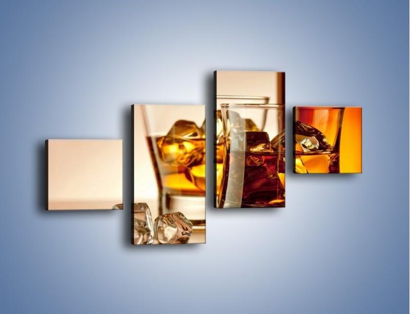 Obraz na płótnie – Męskie rozmowy przy whisky – czteroczęściowy JN318W3
