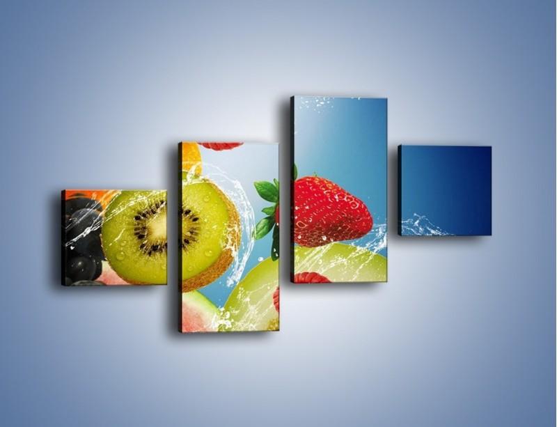 Obraz na płótnie – Owoce o poranku – czteroczęściowy JN331W3