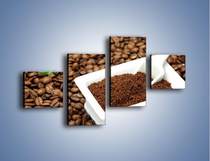 Obraz na płótnie – Zmielona kawa – czteroczęściowy JN340W3