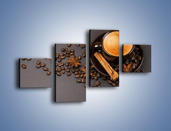 Obraz na płótnie – Kawa z goździkiem – czteroczęściowy JN349W3