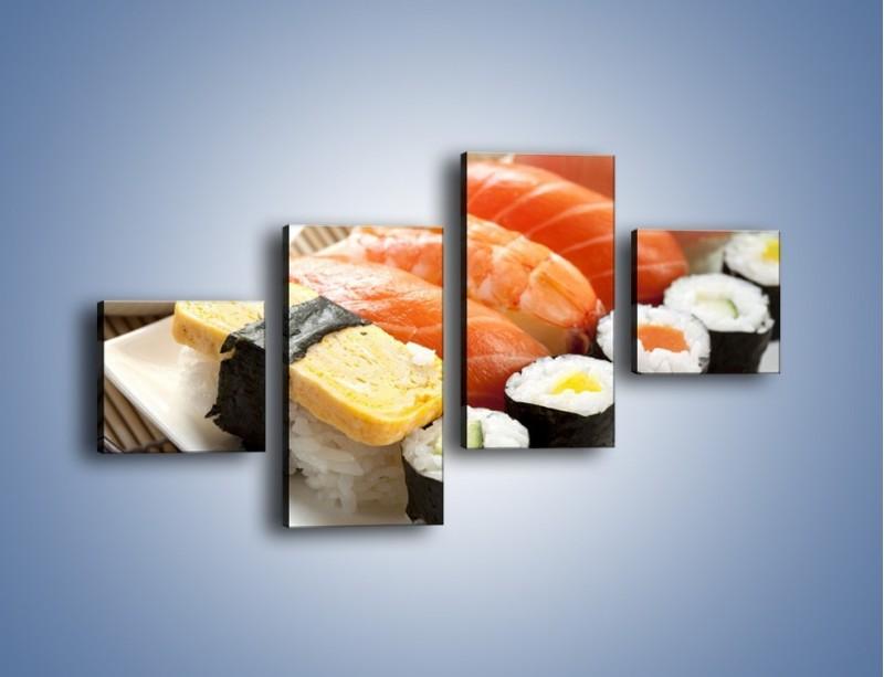 Obraz na płótnie – Azjatyckie posiłki – czteroczęściowy JN355W3