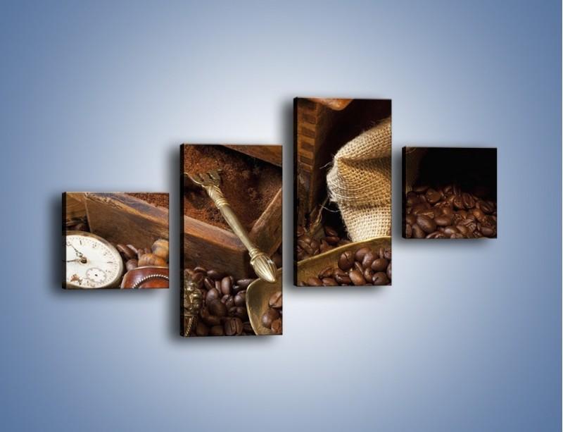 Obraz na płótnie – Szuflada pełna kawy – czteroczęściowy JN356W3