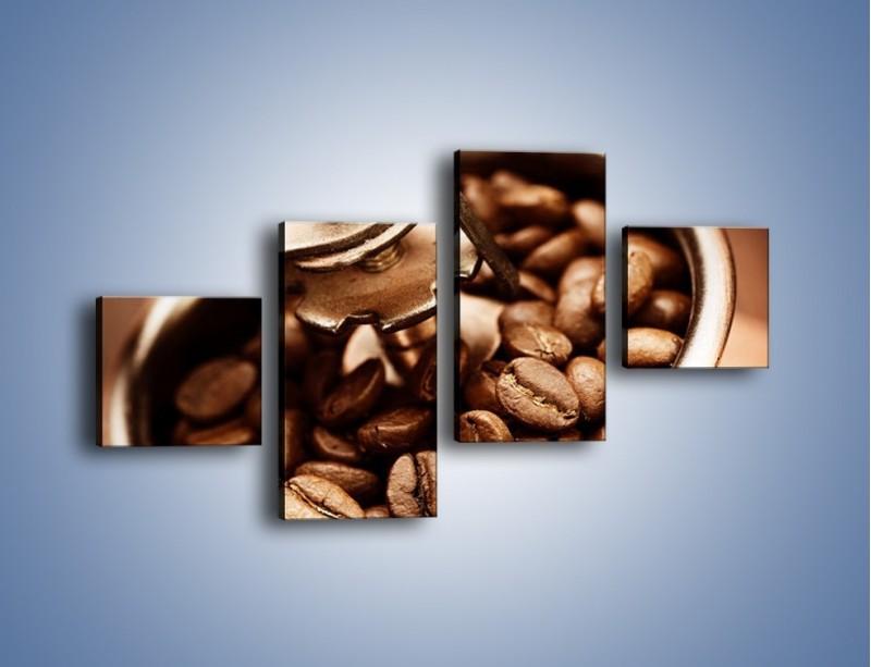 Obraz na płótnie – Kawa w młynku – czteroczęściowy JN361W3