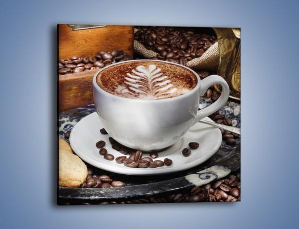 Obraz na płótnie – Taca z kawą – jednoczęściowy kwadratowy JN338