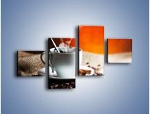 Obraz na płótnie – Aromatyczny zapach kawy – czteroczęściowy JN374W3