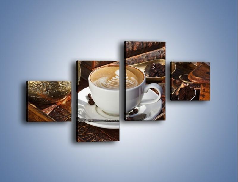 Obraz na płótnie – Wspomnienie przy kawie – czteroczęściowy JN377W3
