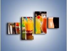 Obraz na płótnie – Barmańskie drinki – czteroczęściowy JN433W3