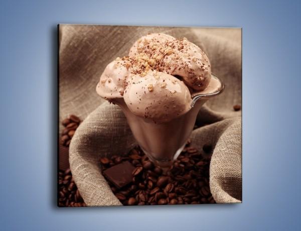 Obraz na płótnie – Deser czekoladowo-kawowy – jednoczęściowy kwadratowy JN339
