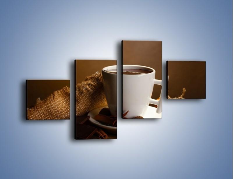 Obraz na płótnie – Gorąca czekolada z dodatkami – czteroczęściowy JN452W3