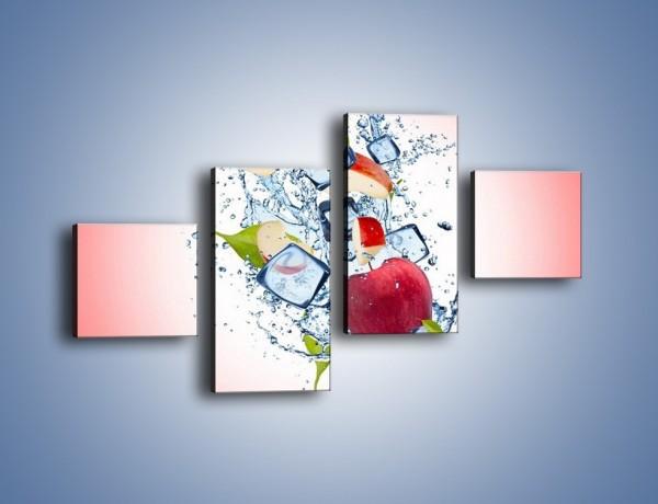Obraz na płótnie – Jabłkowe trio w powietrzu – czteroczęściowy JN500W3