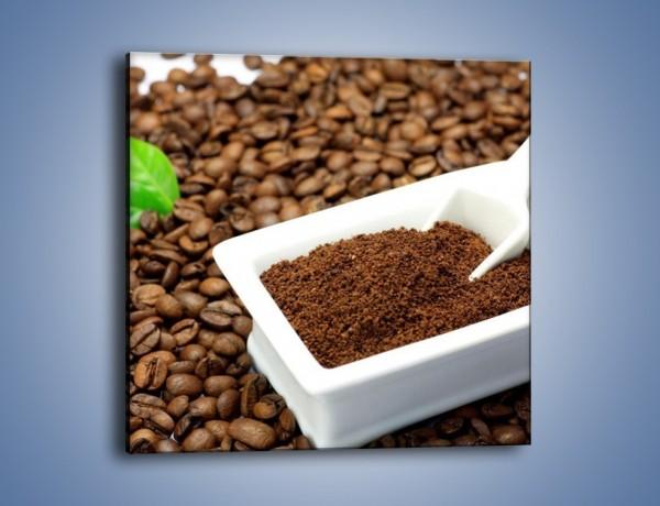 Obraz na płótnie – Zmielona kawa – jednoczęściowy kwadratowy JN340