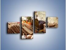 Obraz na płótnie – Chleb w roli głównej – czteroczęściowy JN501W3