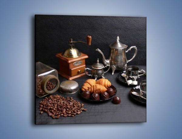 Obraz na płótnie – Popołudnie przy kawie – jednoczęściowy kwadratowy JN341