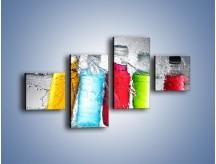 Obraz na płótnie – Alkohol zatopiony w wodzie – czteroczęściowy JN584W3