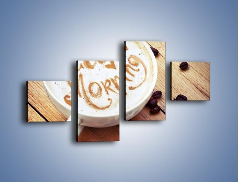 Obraz na płótnie – Kawa z bezą – czteroczęściowy JN605W3
