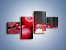 Obraz na płótnie – Czerwone jabłka późną jesienią – czteroczęściowy JN619W3