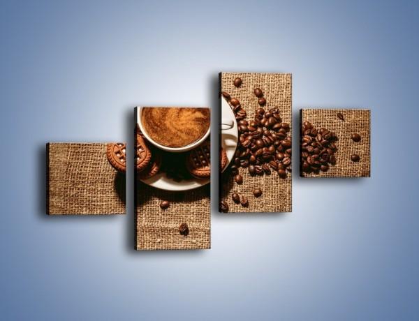 Obraz na płótnie – Kawowe słodkości na deser – czteroczęściowy JN676W3