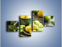Obraz na płótnie – Cytrynowo-limonkowe ciasteczka – czteroczęściowy JN724W3
