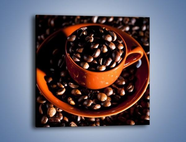 Obraz na płótnie – Filiżanka kawy z charakterem – jednoczęściowy kwadratowy JN343
