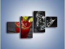 Obraz na płótnie – Czerwony drink z selerem – czteroczęściowy JN751W3