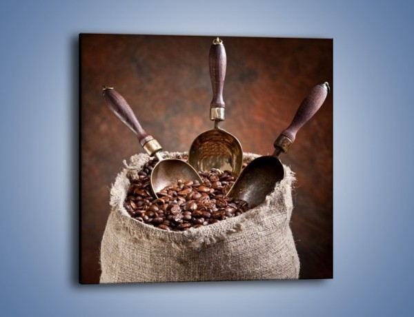 Obraz na płótnie – Wór pełen ziaren kawy – jednoczęściowy kwadratowy JN344